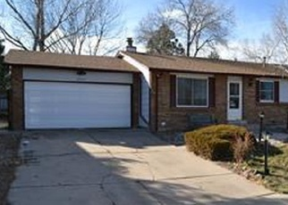 Pre Foreclosure in Littleton 80123 S GARLAND WAY - Property ID: 1063257817