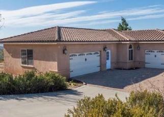 Pre Foreclosure in Ramona 92065 STARLIGHT MOUNTAIN RD - Property ID: 1114316376