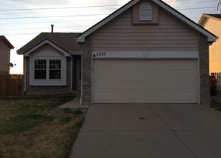 Pre Foreclosure in Aurora 80013 S HALIFAX WAY - Property ID: 1368000556