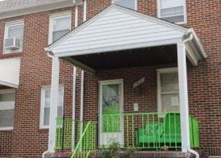 Pre Foreclosure in Baltimore 21213 N ELLWOOD AVE - Property ID: 1379150496