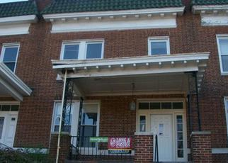 Pre Foreclosure in Baltimore 21218 E 33RD ST - Property ID: 1485252320