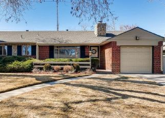 Pre Foreclosure in Denver 80210 S MONROE ST - Property ID: 1558978681
