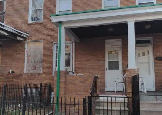 Pre Foreclosure in Baltimore 21223 S BENTALOU ST - Property ID: 1650707962